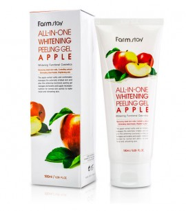 Заказать онлайн Farmstay Пилинг-скатка  с экстрактом яблока All In One Whitening Peeling Gel Apple в KoreaSecret