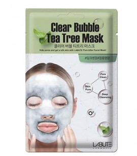 Заказать онлайн Labute Кислородная маска с чайным деревом Clear Bubble Tea Tree Mask в KoreaSecret