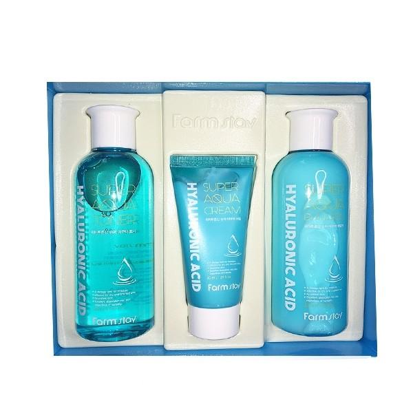 Farmstay Набор средств с гиалуроновой кислотой Hyaluronic Acid Super Aqua Skin Care 3 Set