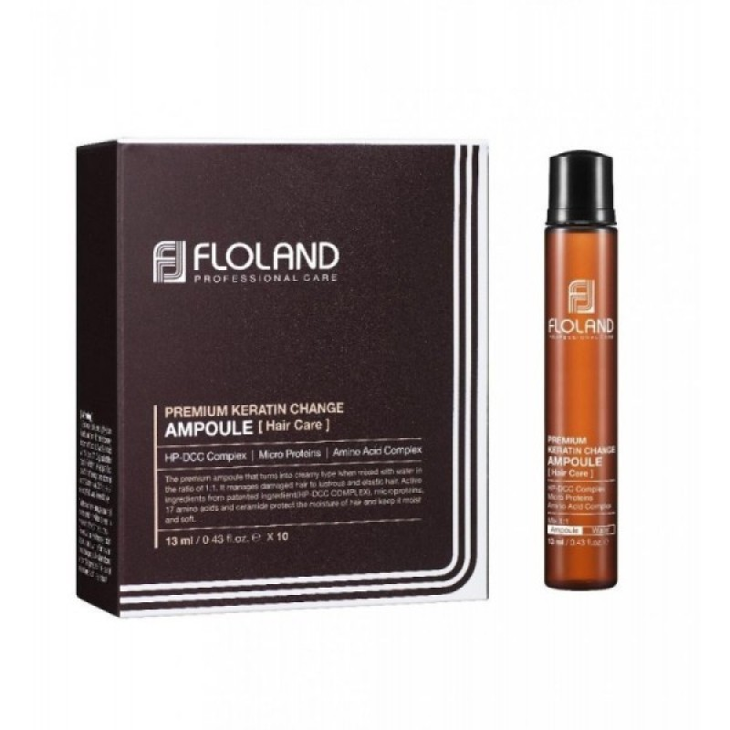 Floland Ампула для поврежденных волос Premium Keratin Change Ampoule