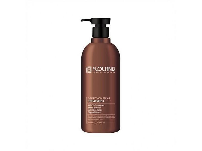 Floland Маска для поврежденных волос с кератином 530мл Premium Silk Keratin Treatment