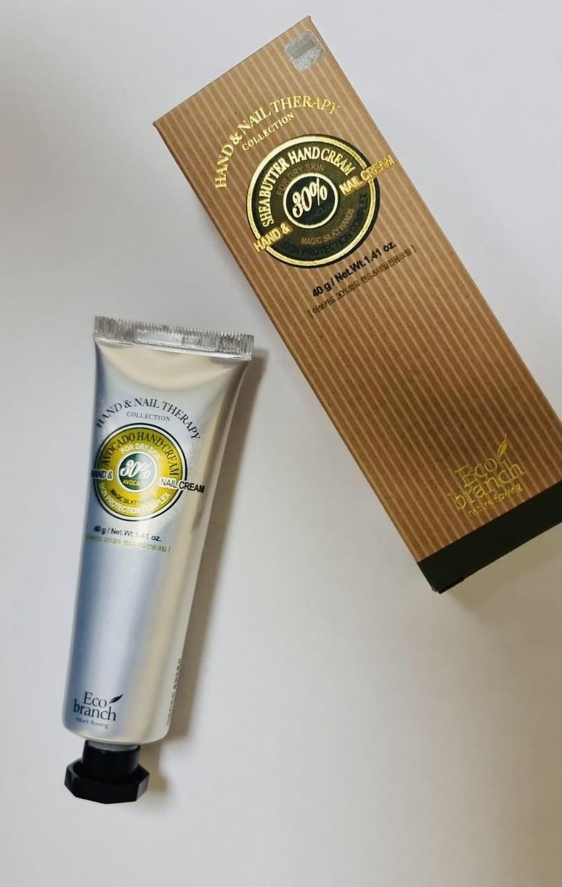 Eco Branch Крем для рук и ногтей с экстрактом авокадо Hand Cream and Nail Therapy Avocado