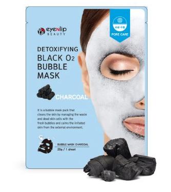 Eyenlip Пузырьковая маска с углем Detoxifying Black O2 Bubble Mask - Charcoal