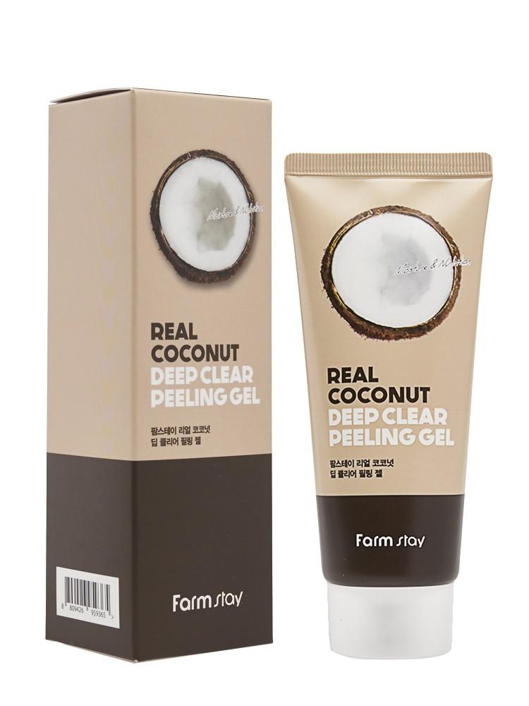 Farmstay Пилинг-скатка с кокосовым маслом Rear Coconut Deep Clear Peeling Gel