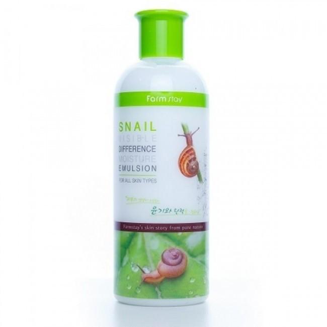 FarmStay Увлажняющая эмульсия с экстрактом улитки Visible Difference Moisture Emulsion Snail