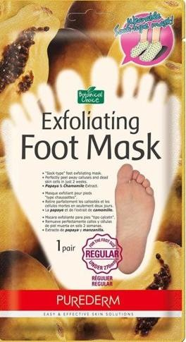 Purederm Пилинг для ног от 27см Botanical Choice Exfoliating Foot Mask