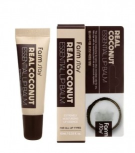 Заказать онлайн FarmStay Восстанавливающий бальзам c кокосовым маслом Real Coconut Essential Lip Balm в KoreaSecret