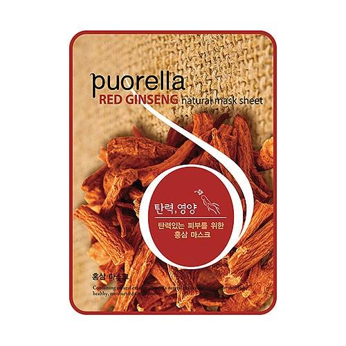 Baroness Маска-салфетка с корнем женьшеня SpunlacPuorella Red Ginseng Natural Mask Sheet