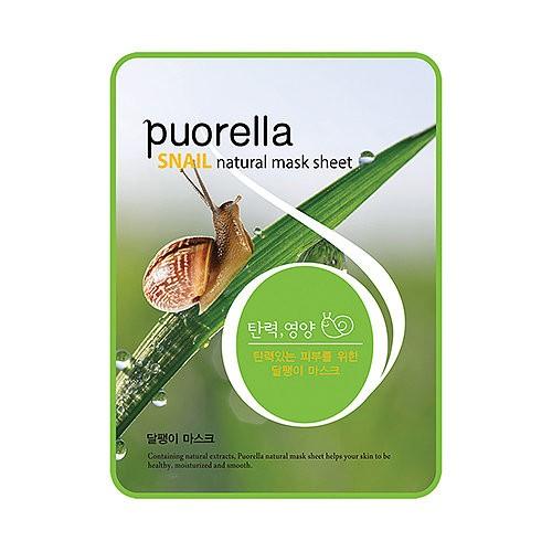 Baroness Маска-салфетка с муцином улитки Spunlace Puorella Snail Natural Mask Sheet