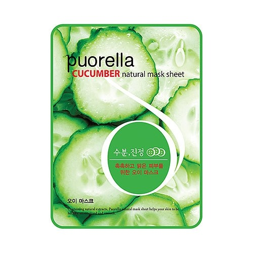Baroness Маска-салфетка с огурцом Spunlace Puorella Cucumber Natural Mask Sheet
