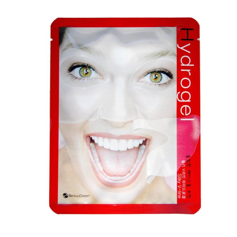 BeauuGreen Гидрогелевая маска для восстановления контуров лица Silky V-line Hydrogel Mask