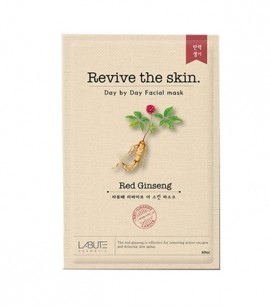 Заказать онлайн Labute Маска-салфетка с корнем женьшеня Revive The Skin Red Ginseng Mask в KoreaSecret