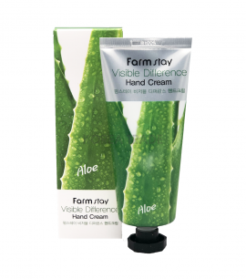 Заказать онлайн Farmstay Крем для рук с алоэ AloeVera Visible Difference Hand Cream в KoreaSecret