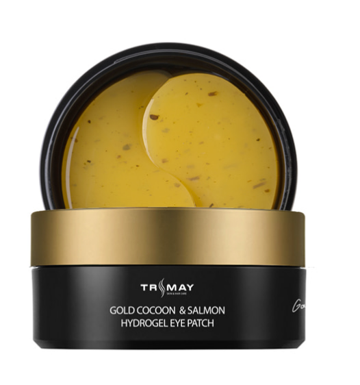 Trimay Гидрогелевые патчи с экстрактом золотого кокона и икрыGold Cocoon & Salmon Hydrogel Eye Patch