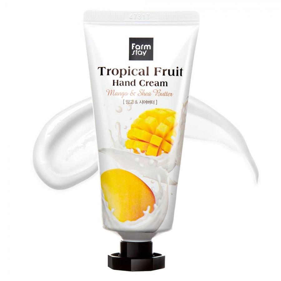 Farmstay Питательный крем для рук с маслом ши и манго Tropical Fruit Hand Cream Mango