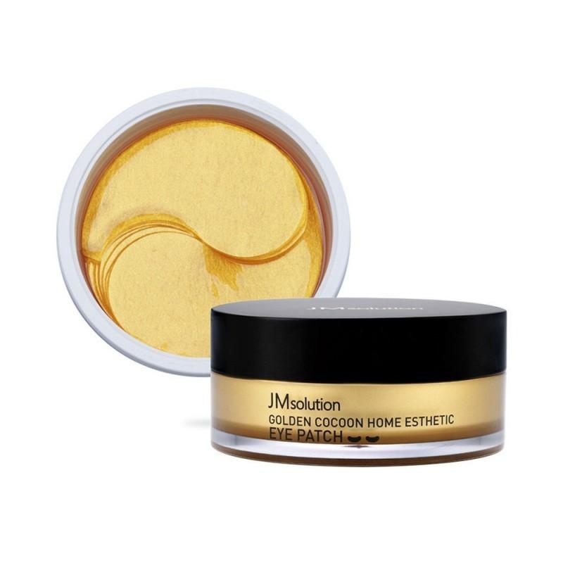 JMsolution Гидрогелевые патчи с шёлком и золотом  Golden Cocoon Home Esthetic Eye Patch