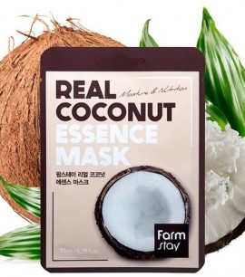 Заказать онлайн FarmStay Маска-салфетка с кокосом Real Coconut Essence Mask FarmStay в KoreaSecret