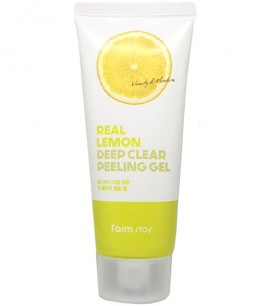 Заказать онлайн Farmstay Пилинг-скатка с экстрактом лимона Real Lemon Deep Clear Peeling Gel в KoreaSecret